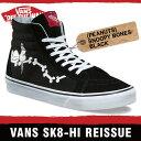 【6月末入荷先行予約】バンズ スニーカー メンズ レディース スケート ハイ リイシュー (ピーナッツ) スヌーピー ボーンズ/ブラック VANS SK8-HI REISSUE (PEANUTS) S