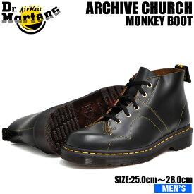 ドクターマーチン 5ホール アーカイブ チャーチ モンキーブーツ メンズ ブラック Dr.Martens ARCHIVE CHURCH BLACK 16054001