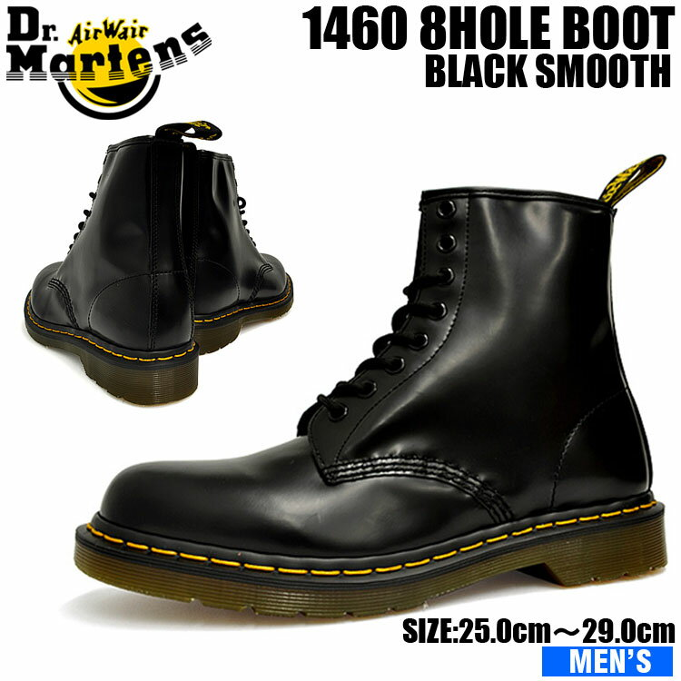 ドクターマーチン メンズ 1460 8アイ ブーツ ブラック Dr. Martens 1460 8EYE BOOT BLACK 11822006