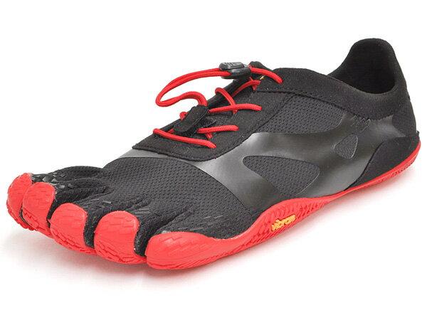 ビブラム ファイブフィンガーズ シューズ メンズ ケイエスオー エボ ブラック/レッド Vibram FiveFingers KSO EVO BLACK/RED 18M0701