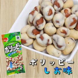 でん六ポリッピー〈塩味〉60g×10袋入おつまみ豆菓子ピーナッツ落花生【ケース販売/Eサイズ】