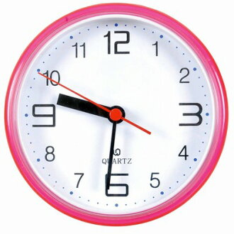 Waterproof bathroom clock (pink / w)