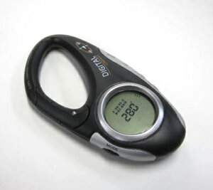 ハングフックタイプ携帯用デジタルコンパス(時計+温度計付)