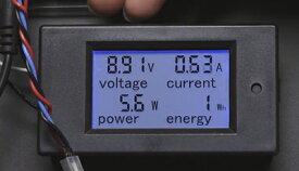 大型パネルマウント電力メーター(6.5V〜100Vdc Max20A)