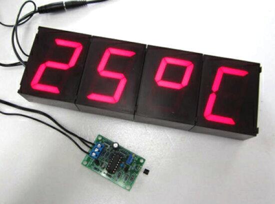 23 × 7 釐米是大型顯示七段式溫度計 + 時鐘 K8089/K8067 (已完成) denshi