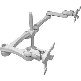 モダンソリッド 水平多関節アーム(クランプ取付)ホワイトモデル LA-515-5Q-WH LA-515-5Q-WH