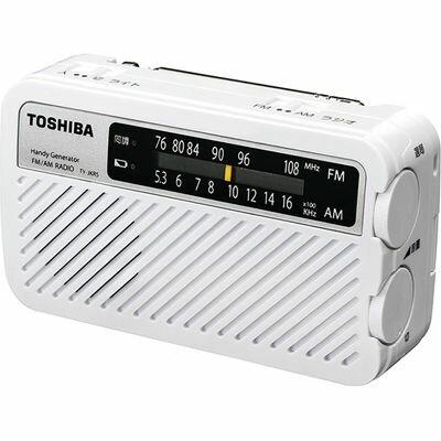 東芝 手回し充電ラジオ TY-JKR5-W【納期目安:12/末入荷予定】