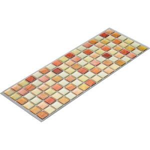 BEAUS Tile タイル シール モザイクタイルシール クリアオレンジ ( DIY 壁紙 シート ) 4900309020036