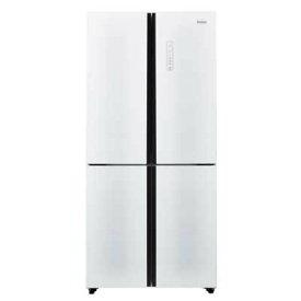 ハイアール 大きなものもたっぷり保存。使いやすいガラストップ4ドアフレンチタイプ! 468L 4ドア観音開き式冷凍冷蔵庫(ホワイト) JR-NF-468A-W【納期目安:1週間】