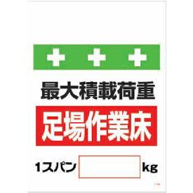 トラスコ中山 SHOWA 単管シート ワンタッチ取付標識 イラスト版 荷重1スパン[_]kg tr-8193951