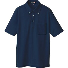 アイトス アイトス ボタンダウン半袖ポロシャツ ネイビー S 10599008S
