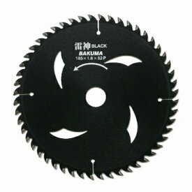バクマ工業 バクマ 雷神 BLACK チップソー 190×20mm 52P 4983517052860