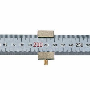 シンワ測定 シンワ測定 直尺 シルバー 30cm 赤数字入 ストッパー付 JIS 76752 4960910767522