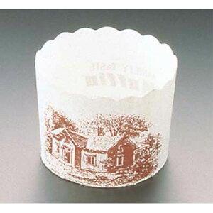 その他 マフィンカップ ハウス柄(100枚入)白 M-405 EBM-6698800
