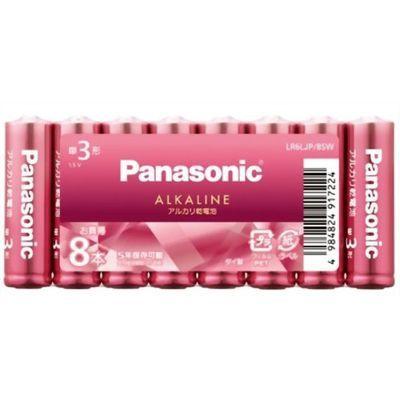 パナソニック パナソニック カラーアルカリ乾電池 単3形 ピンク LR6LJP/8SW 8本入 4984824917224【納期目安:2週間】