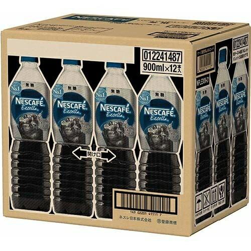 ネスレ日本 ネスカフェ エクセラ ボトルコーヒー 無糖 900mL*12本入 4902201411127【納期目安:2週間】