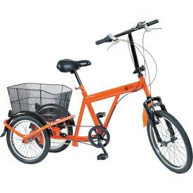 トラスコ中山 TRUSCO 災害時用ノーパンク三輪自転車 ハザードランナートライ THR5503