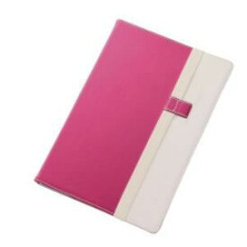 レイ・アウト Xperia Z4 Tabletバイカラー・ブックレザー(合皮)/ピンク/ホワイト RT-Z4TLC7/PW RTZ4TLC7PW-Bケー 4562356975525【納期目安:3週間】