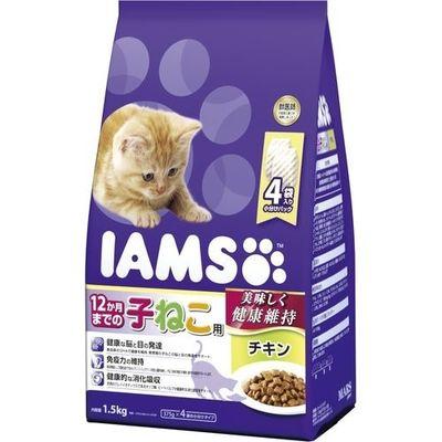 マースジャパンリミテッド アイムス 12か月までの子ねこ用 チキン 1.5kg E472078H