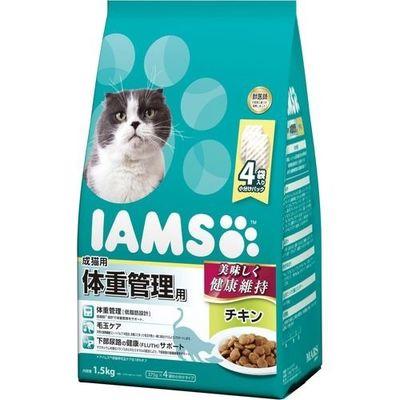 マースジャパンリミテッド アイムス 成猫用 体重管理用 チキン 1.5kg E472082H【納期目安:1週間】