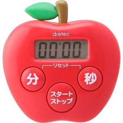 DRETEC りんごタイマー(レッド) T-534RD