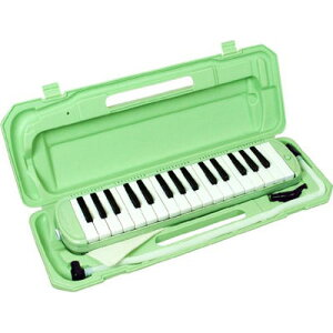 KC 鍵盤ハーモニカ メロディー ピアノ 鍵ハモ 小学校 幼稚園 音楽 P3001-32K/UGR (ライトグリーン) 4534853810456
