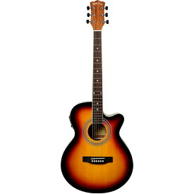 SepiaCrue(セピアクルー) エレクトリックアコースティックギター EAW-01/VS ヴィンテージサンバースト ソフトケース付き 4534853523646