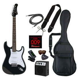 LIGHT エレキギター 初心者入門ライトセット ストラトキャスタータイプ ST-180/HBK マッチングヘッドブラック 4534853537940