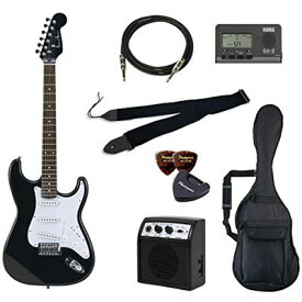 VALUE Photo Genic/フォトジェニック ST-180/HBK エレキギター初心者向け豪華8点バリューセット ST180 ビギナー向け/ストラトキャスタータイプ 4534853041904