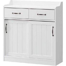 白井産業 レトロモダンの甘さを抑えた白い家具 カウンター下収納 Retroa レトロア RTA-9085SDH