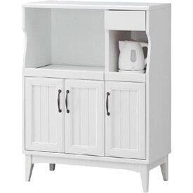 白井産業 レトロモダンの甘さを抑えた白い家具 カウンターボード Retroa レトロア RTA-1185SL