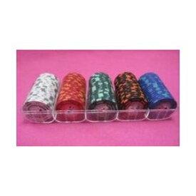その他 フォースポット チップセット100枚 (1、 5、 25、 100、 500) - カジノチップ・ポーカーチップ ds-725694