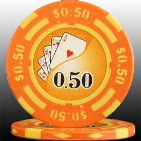 その他 フォースポット チップ ( 50C ) <25枚セット> -カジノチップ・ポーカーチップ ds-725797
