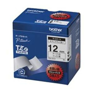 その他 brother ブラザー工業 文字テープ/ラベルプリンター用テープ 【幅:12mm】 5個入り TZe-231V 白に黒文字 ds-1297799