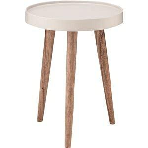 その他 サイドテーブル(トレーテーブル) 木製 丸型 小(Sサイズ) NW-723 ホワイト(白) ds-1386495