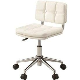 その他 デスクチェア(椅子) 昇降機能付き スチール/ソフトレザー/合皮 RKC-301WH ホワイト(白) ds-1386654