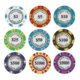 その他 モンテカルロ・ポーカーチップサンプル10枚セット ds-1409854