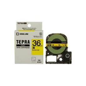 その他 (業務用2セット) キングジム テプラPROテープ/ラベルライター用テープ 【幅:36mm】 SC36Y 黄に黒文字 ds-1466272