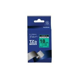 その他 (業務用3セット) brother ブラザー工業 文字テープ/ラベルプリンター用テープ 【幅:18mm】 TZe-741 緑に黒文字 ds-1468147