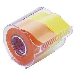 その他 (まとめ) ヤマト メモックロールテープ 本体(蛍光紙) NORK-25CH-6C オレンジ・レモン 1個入 【×5セット】 ds-1528129