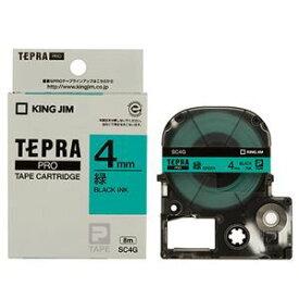 その他 (まとめ) キングジム テプラ PRO テープカートリッジ パステル 4mm 緑/黒文字 SC4G 1個 【×5セット】 ds-1570420