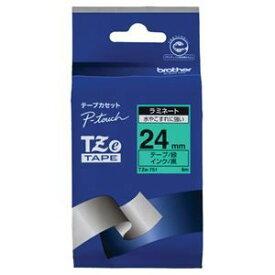 その他 (まとめ) ブラザー BROTHER ピータッチ TZeテープ ラミネートテープ 24mm 緑/黒文字 TZE-751 1個 【×6セット】 ds-1574946
