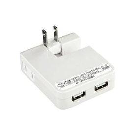 その他 (まとめ)サンワサプライ USB充電タップ型ACアダプタ(出力2.1A×2ポート)ホワイト ACA-IP25W【×2セット】 ds-1618835