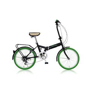 その他 折りたたみ自転車 20インチ/グリーン(緑) シマノ6段変速 【MIWA】 ミワ FD1B-206 ds-1634647