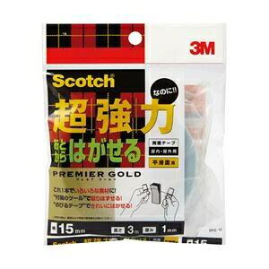 その他 (業務用セット) スコッチ 超強力なのにあとからはがせる両面テープ 1巻 型番:SRG-15 【×3セット】 ds-1643481