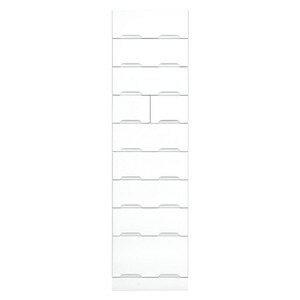 その他 タワーチェスト 【幅50cm】 スライドレール付き引き出し 日本製 ホワイト(白) 【完成品】 ds-1752710【納期目安:08/中旬入荷予定】