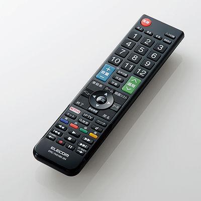 エレコム かんたんTVリモコン/シャープ・アクオス用/ブラック ERC-TV01BK-SH
