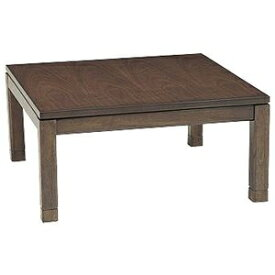 その他 リビングこたつテーブル/センターテーブル 本体 【幅90cm ロータイプ/ブラウン】 正方形 継ぎ足 『シェルタ』 ds-1948064