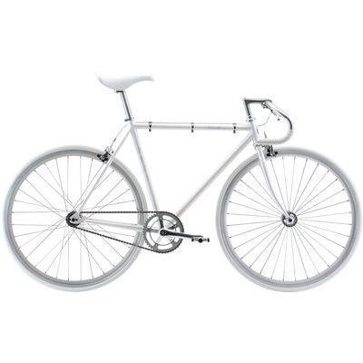 FUJI 2018年モデル フェザー(FEATHER) 58cm シングル オーロラホワイト ロードバイク 18FETRWH58