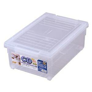 その他 フタ付き 収納ボックス/プラスチックケース 【CD等】 仕切り板・キャスター付き 『いれと庫ワイド』 ds-1953688